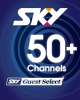 Sky guest selection 50+ channels including sport and movies.